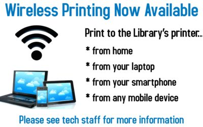 Wireless Printing Now Available