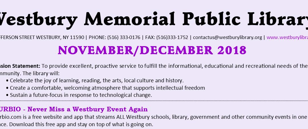 November / December 2018 Newsletter