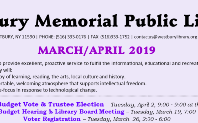 March / April 2019 Newsletter