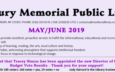 May / June 2019 Newsletter
