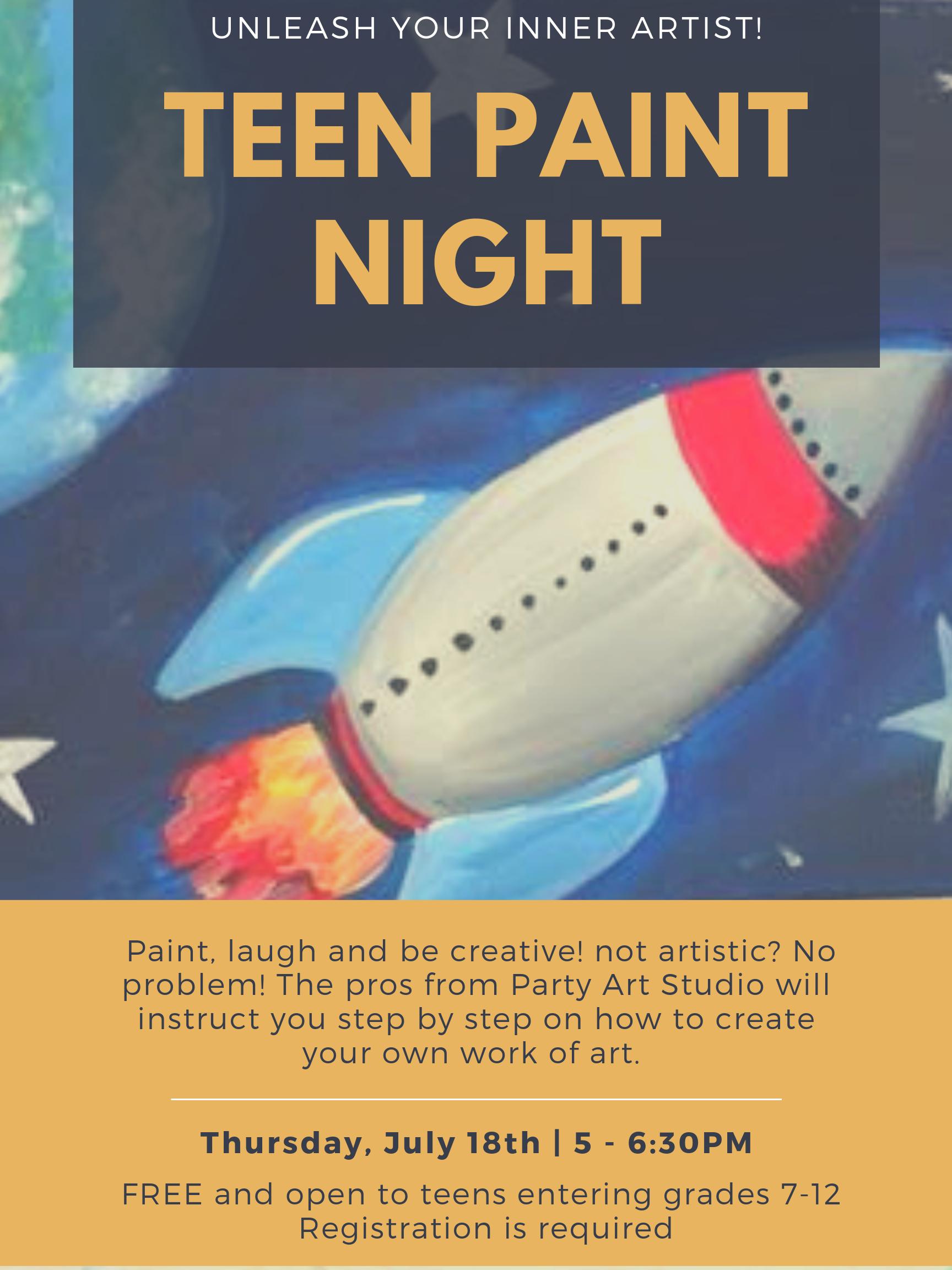Teen Paint Night